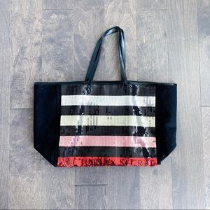 Victoria's Secret sequin large tote bag
